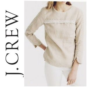 *SALE!* J. Crew Linen Long Sleeve Blouse